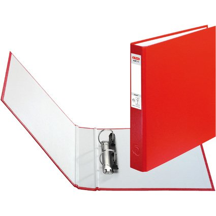 herlitz Ringbuch maX.file protect, A5, 2-Ring-Mechanik, rot