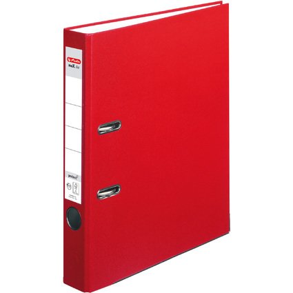 herlitz Ordner maX.file protect, Rückenbreite: 50 mm, rot