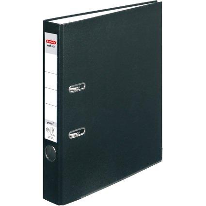 herlitz Ordner maX.file protect, Rückenbreite: 50mm, schwarz