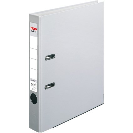 herlitz Ordner maX.file protect, Rückenbreite: 50 mm, grau