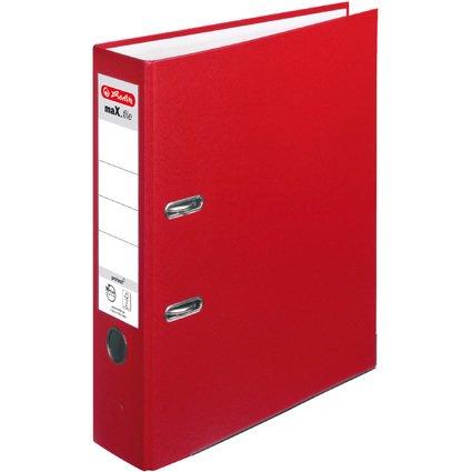 herlitz Ordner maX.file protect, Rückenbreite: 80 mm, rot