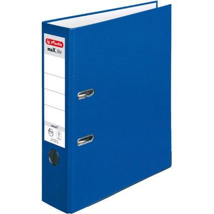 herlitz Ordner maX.file protect, Rückenbreite: 80 mm, blau