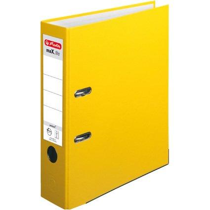 herlitz Ordner maX.file protect, Rückenbreite: 80 mm, gelb
