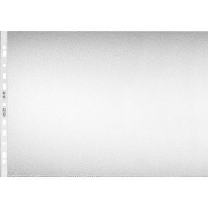 herlitz Prospekthülle, DIN A3 quer, genarbt, 0,08 mm