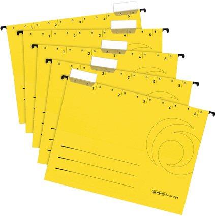 herlitz Hängemappe UniReg easyorga, A4, seitl. offen, gelb