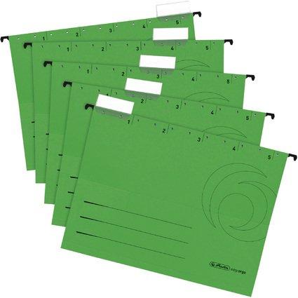 herlitz Hängemappe UniReg easyorga, A4, seitl. offen, grün