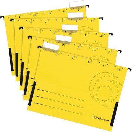 herlitz Hängetasche UniReg easyorga, DIN A4, gelb