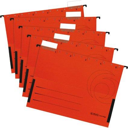 herlitz Hängetasche UniReg easyorga, DIN A4, rot