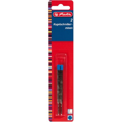 herlitz Kugelschreiberminen Profisize, Strichfarbe: blau