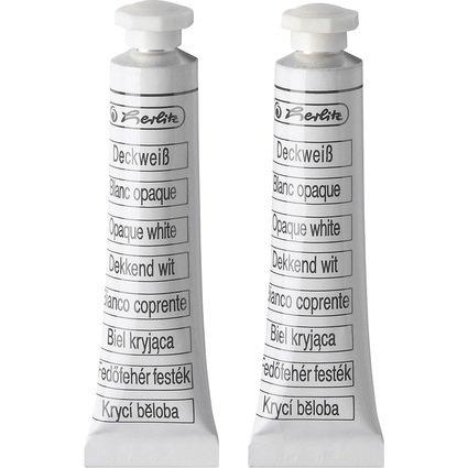 herlitz Deckweiß, Inhalt: 2 Tuben à 7,5 ml