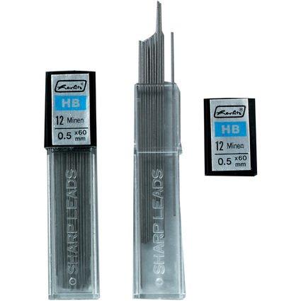 herlitz Druckbleistiftminen, Minenstärke: 0,5 mm