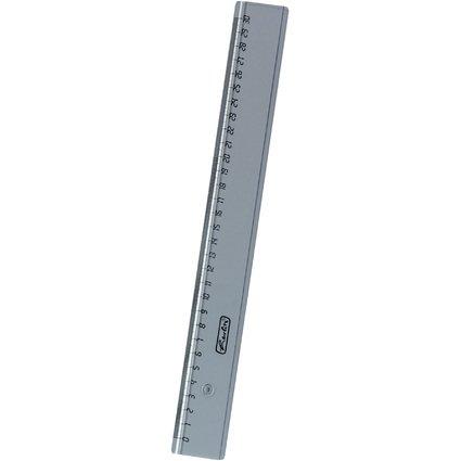 herlitz Flachlineal, 300 mm lang, transparent