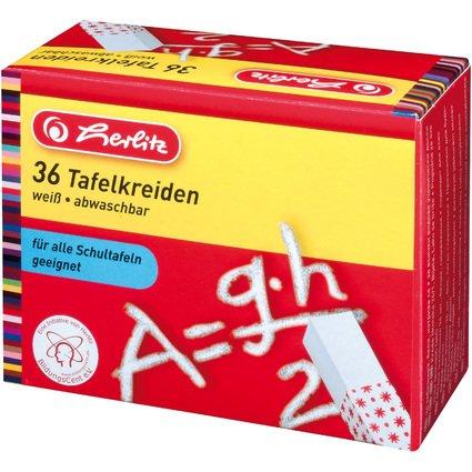 herlitz Wandtafelkreide, weiß, 36er Karton-Etui