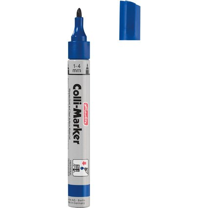 "herlitz Permanent-Marker ""Collimarker"", Rundspitze, blau"