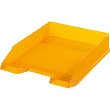 herlitz Briefablage, DIN A4, Polystyrol, orange-transluzent