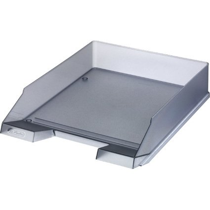herlitz Briefablage, DIN A4, Polystyrol, grau-transluzent