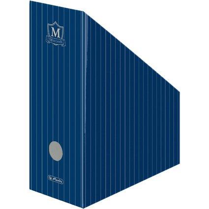 herlitz Wellpappe-Stehsammler Montana, für DIN A4, blau