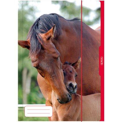 herlitz Zeichnungsmappe/Sammelmappe DIN A3, Motiv: Pferd