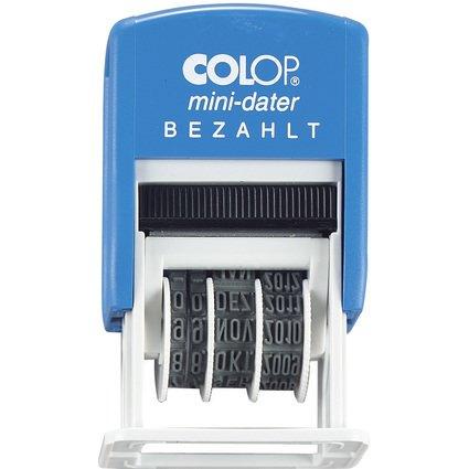 """COLOP Datumstempel Mini Dater S160 L2 """"BEZAHLT"""", im Blister"""