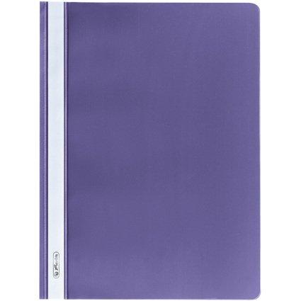 herlitz Schnellhefter, DIN A4, aus PP-Folie, violett