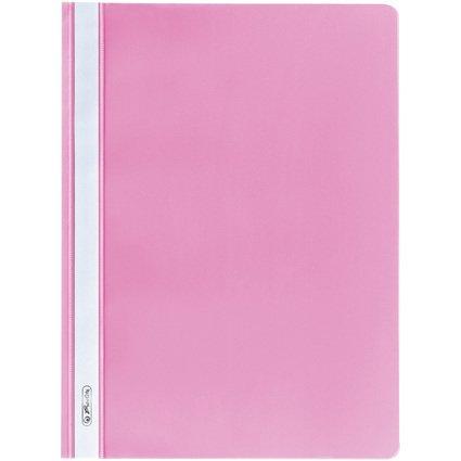 herlitz Schnellhefter, DIN A4, aus PP-Folie, pink