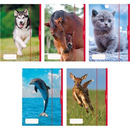 herlitz Zeichnungsmappe/Sammelmappe DIN A3, Motiv: Tiere