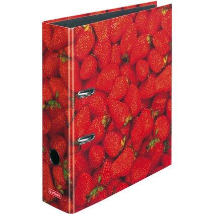 herlitz Motivordner maX.file Erdbeere, A4, Rückenbr: 80 mm
