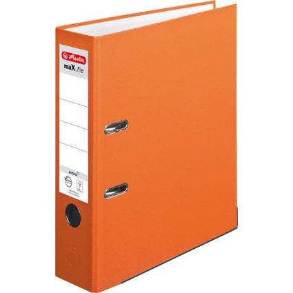 herlitz Ordner maX.file protect, Rückenbreite: 80 mm, orange