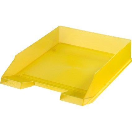 herlitz Briefablage, DIN A4, Polystyrol, gelb-transluzent