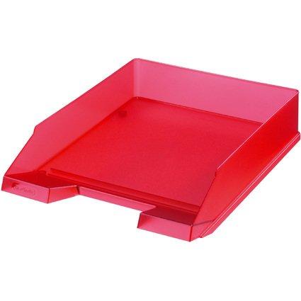 herlitz Briefablage, DIN A4, Polystyrol, rot-transluzent