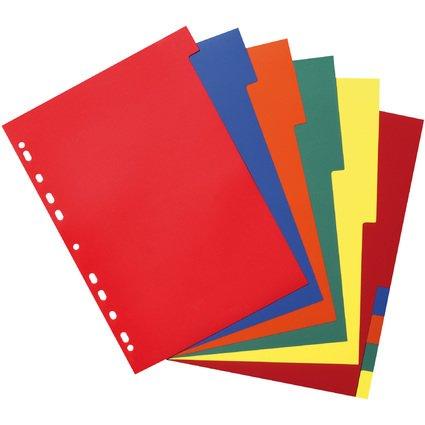 herlitz Kunststoff-Register, blanko, A4, farbig, 10-teilig