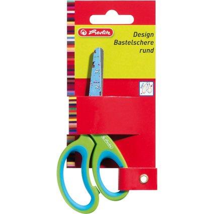 herlitz Bastelschere Design, rund, Länge: 132 mm