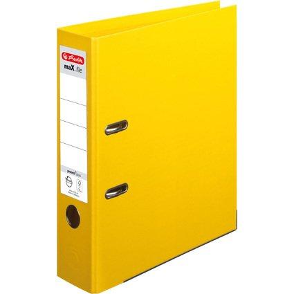herlitz Ordner maX.file protect plus, Rückenbr.: 80 mm, gelb