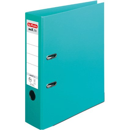 herlitz Ordner maX.file protect plus, Rückenbr.: 80 mm, mint