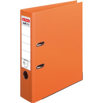 herlitz Ordner maX.file protect plus, Rückenbr.: 80mm,orange