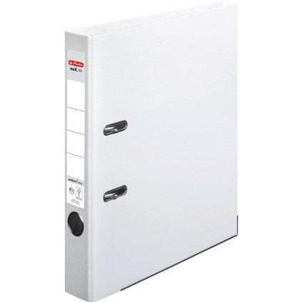herlitz Ordner maX.file protect plus, Rückenbr.: 50 mm, weiß