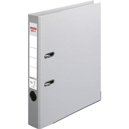 herlitz Ordner maX.file protect plus, Rückenbr.: 50 mm, grau