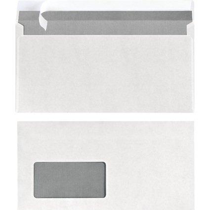 herlitz Briefumschlag, DIN lang, mit Fenster, weiß