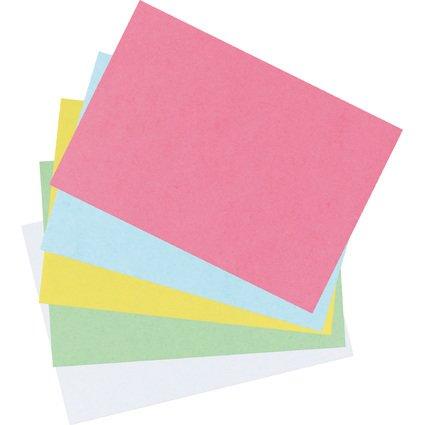 herlitz Karteikarten, DIN A6, blanko, gelb