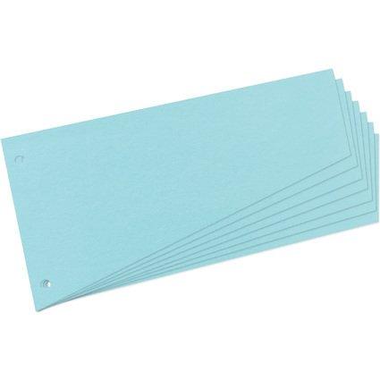 herlitz Trennstreifen, trapezförmig, Manila-Karton, blau