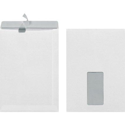 herlitz Versandtasche, DIN C5, mit Fenster, weiß