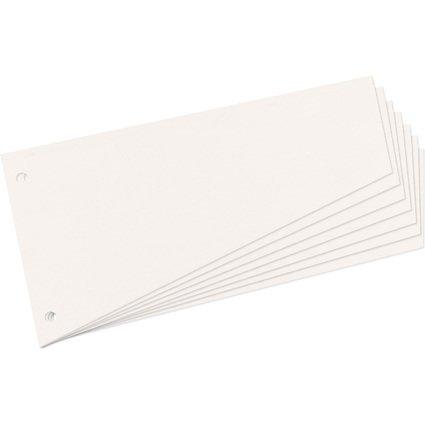 herlitz Trennstreifen, trapezförmig, Manila-Karton, weiß