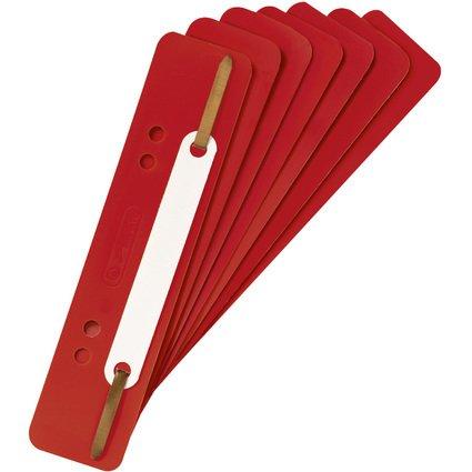herlitz Heftstreifen, 34 x 150 mm, PP-Folie, rot
