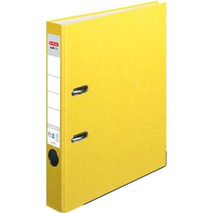 herlitz Ordner maX.file nature plus, Rückenbr.: 50 mm, gelb