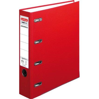 herlitz PP-Doppelordner maX.file, Rückenbreite: 70 mm, rot