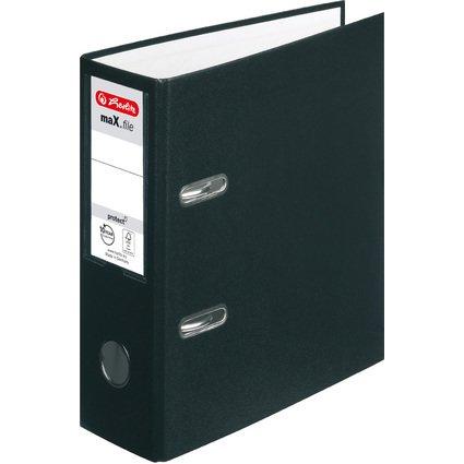 herlitz PP-Ordner maX.file protect, A5 hoch, schwarz