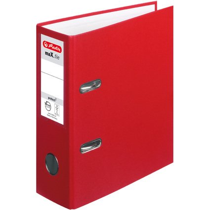 herlitz PP-Ordner maX.file protect, A5 hoch, rot