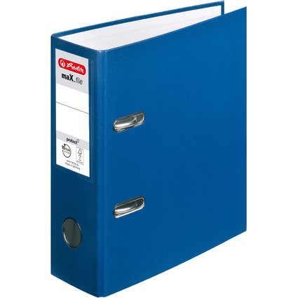 herlitz PP-Ordner maX.file protect, A5 hoch, blau