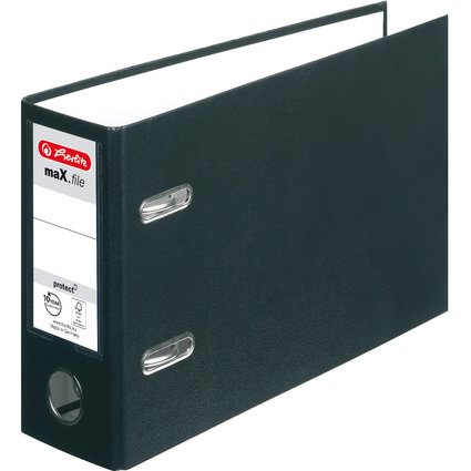 herlitz PP-Ordner maX.file protect, A5 quer, schwarz