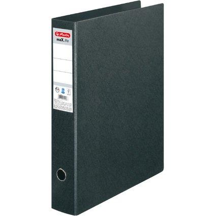 herlitz Hartpappe-Ordner maX.file, A3 hoch, schwarz